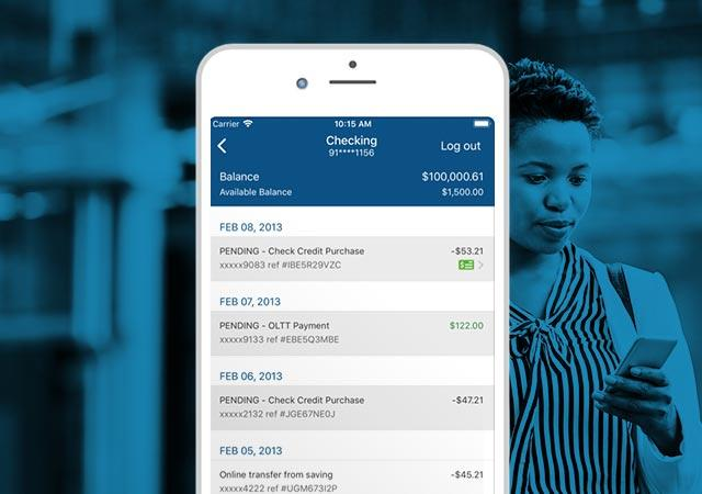 mobile banking on cell phone